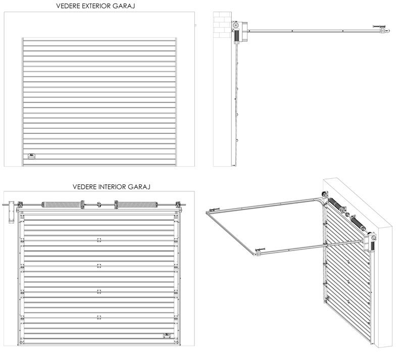 Industrial Sectional Garage Doors Sectional Garage Doors MCA - Porte garage standard